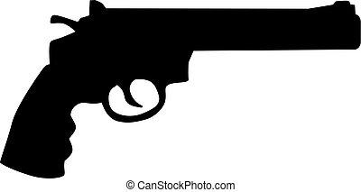 revolver gevär, ikon