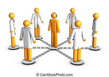 ringa, centrera, sjukvård