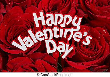 ro, valentinkort dag, lycklig