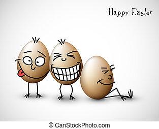 rolig, ägg, påsk