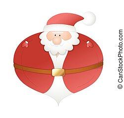 rolig, balloon, vektor, jultomten