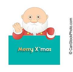 rolig, baner, jul, jultomten