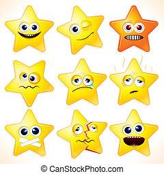 rolig, stjärnor