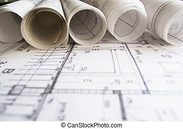 rolls, planer, arkitekt