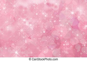 rosa, abstrakt, stjärna, bakgrund