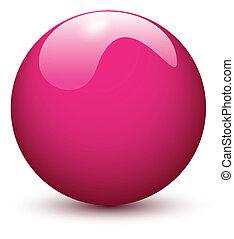rosa kula, glatt