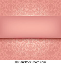 rosa, ornamental, tyg, 10, eps, vektor, bakgrund, texture.