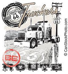 route66, arizona, lastbil