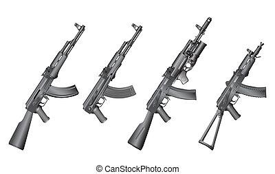 rysk, gevär