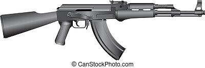 rysk, maskin, ak-47, gevär