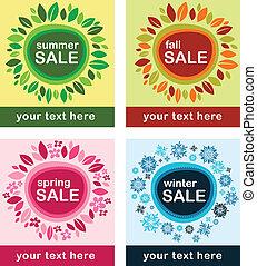 säsongbetonad, poster, försäljningarna