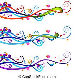 sätta, baner, festlig, firande