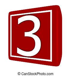 sätta, render, numerera 1, 3, dopfunt, 3