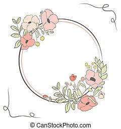 söt, blomma, bouquet., illustration, vektor, lager, kort