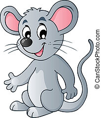 söt, mus, tecknad film