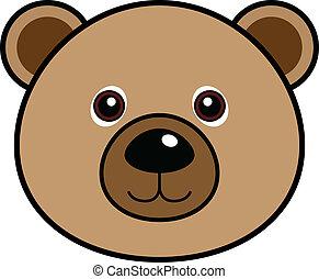 söt, vektor, björn