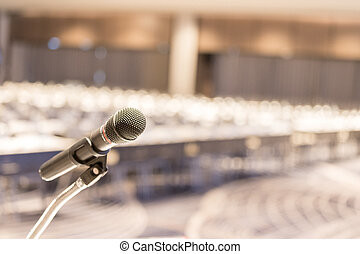 salong, podium, upp slut, mikrofon