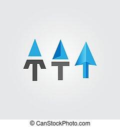 sammandrag formge, mall, vektor, sätta, logo, ikon, illustration, pil