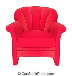 sammet, bakgrund, stol, röd, lätt, vit