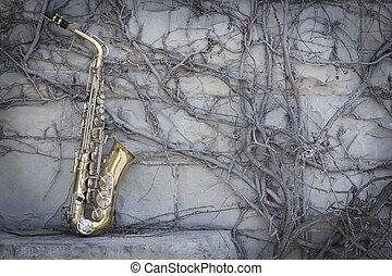 saxofon, jazz, grunge