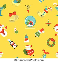 seamless, jul, mönster, bakgrund