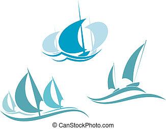 segelbåtar, yachter