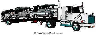 semi-truck, vektor