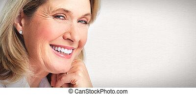 senior woman, portrait.
