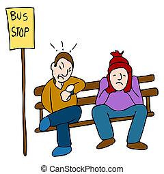 sent, buss