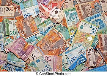 serbian, pengar
