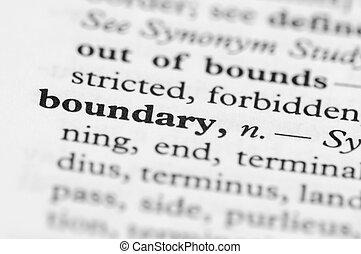 serie, gräns, -, ordbok