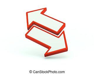 serie, icon., röd, utbyte