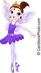 series)., violett, (rainbow, ballerinor, färger, ballerina