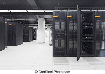 servare, informationer centrerar, telekommunikation