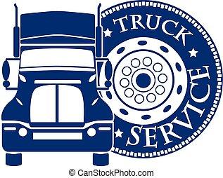 service, bil, illustration, vektor, design, lastbil, hevy