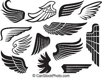(set, påskyndar, kollektion, wings)