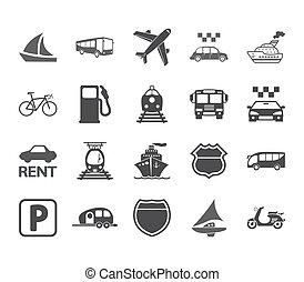 set., transport, ikon