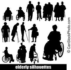silhouettes, äldre