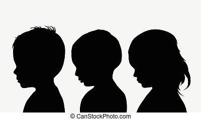silhouettes, barn