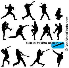 silhouettes, baseball, kollektion