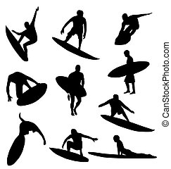 silhouettes, kollektion, surfare
