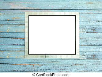 silve, blå, ved, bakgrund, föreställa inramar, årgång