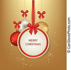 sjuk, vektor, card., hälsning, jul