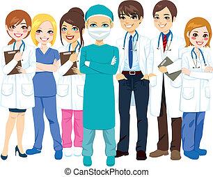 sjukhus, läkar lag