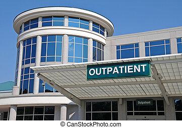 sjukhus, underteckna, hänrycka, poliklinikpatient