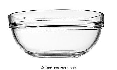 skål, glas bunke, transparent