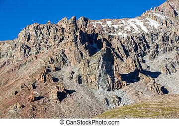 skarp, mountains, shan, tien, rockar