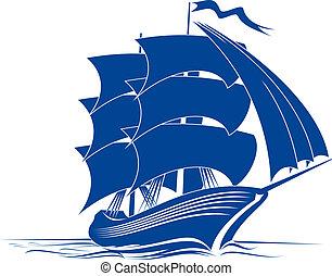 skepp, brigantine