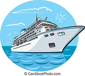 skepp, lyx kryssning