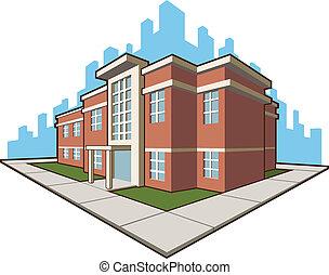 skola, byggnad